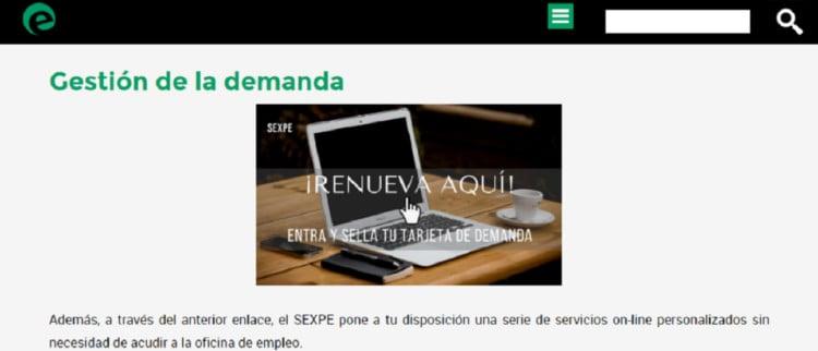 sellar demanda de empleo online madrid