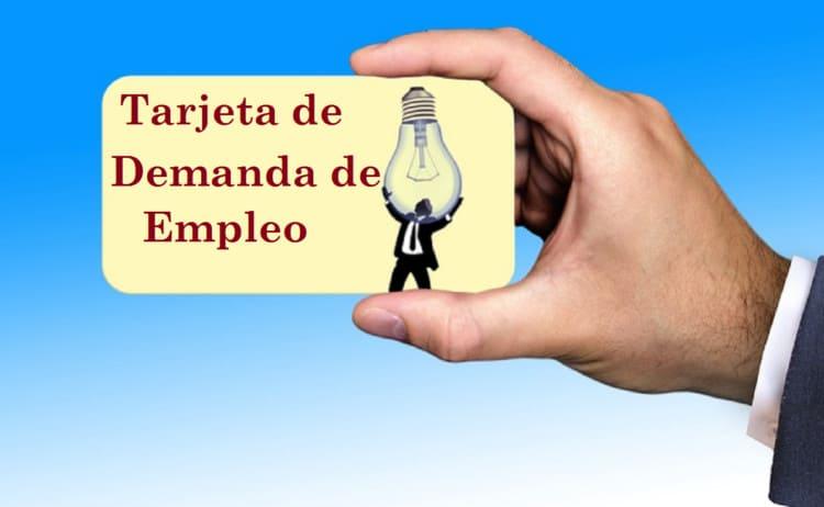 renovar tarjeta demanda de empleo