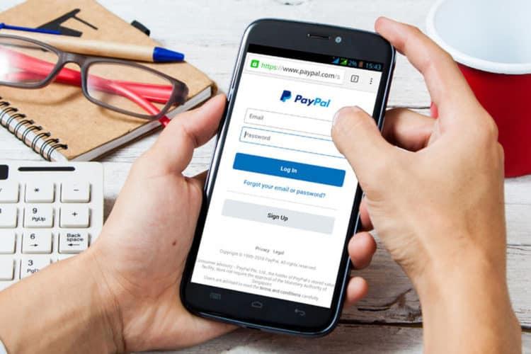 Crear cuenta de paypal
